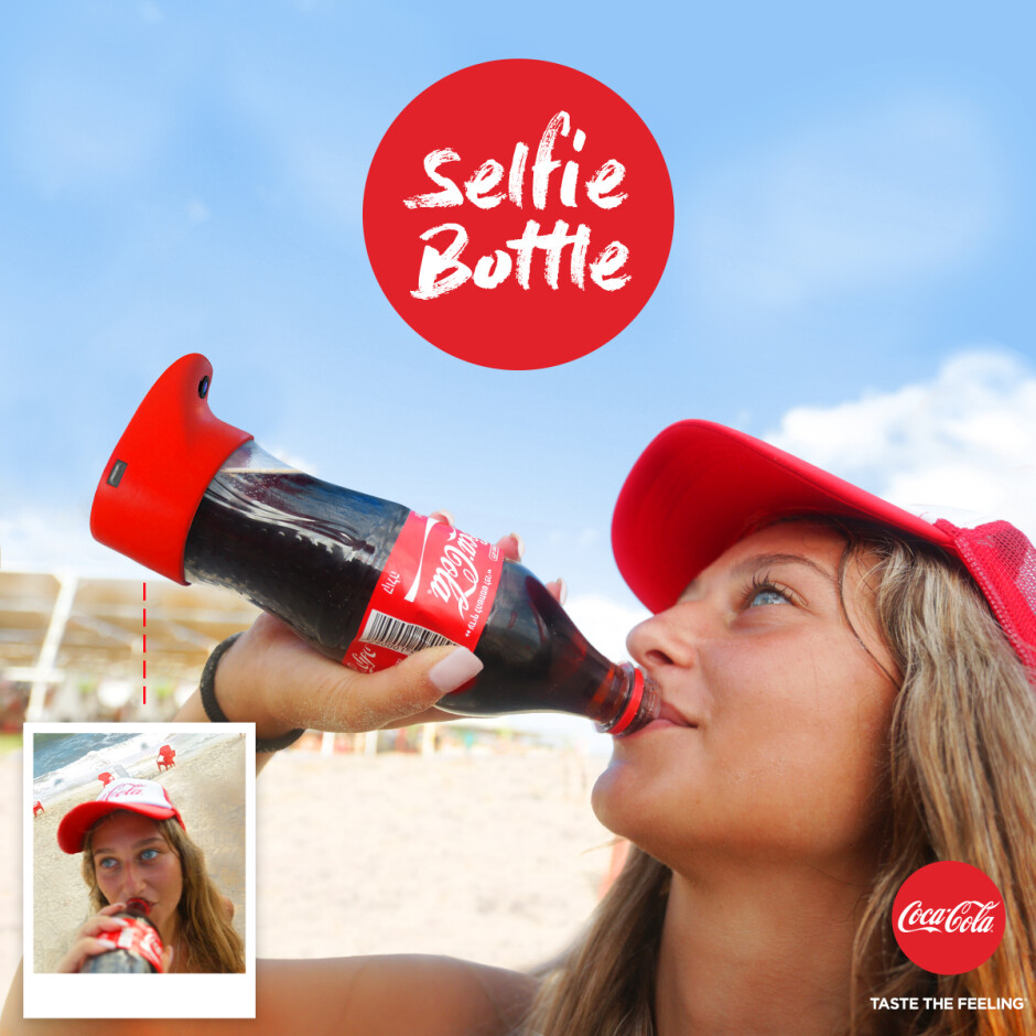 Can a bottle of Coke snap a selfie? Yes, apparently