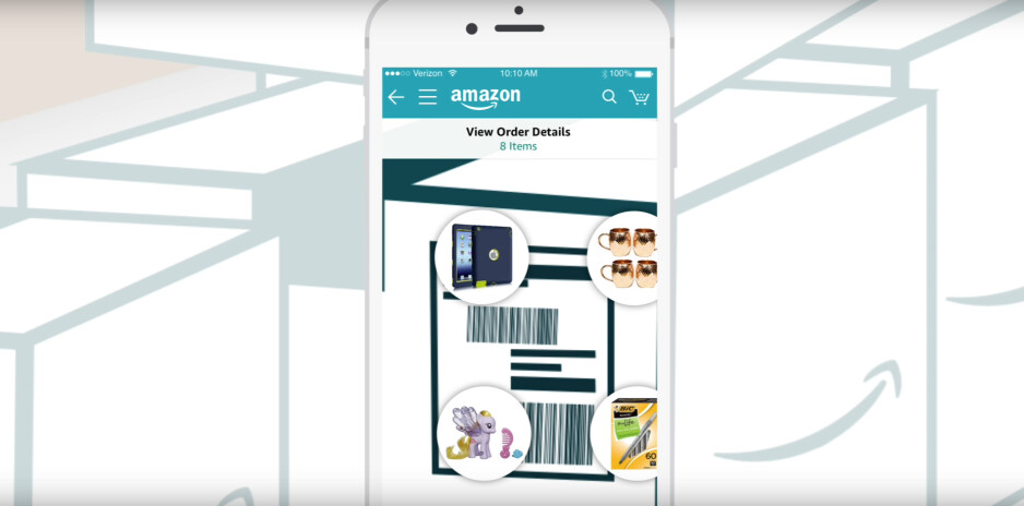 Amazon's iPhone app now allows you to see what's in your package without opening it