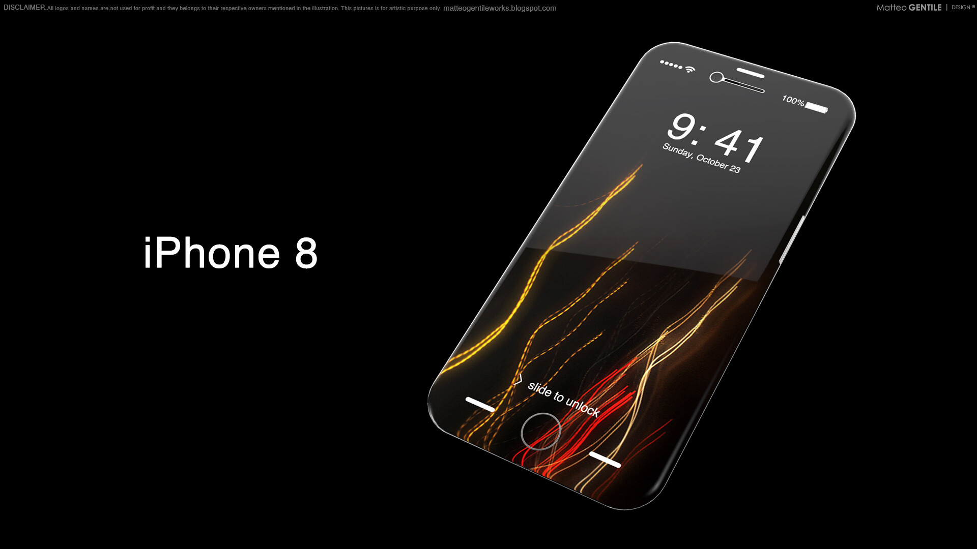 This IPhone 8 Concept Imagines Flexible OLED Curved Around The Sides