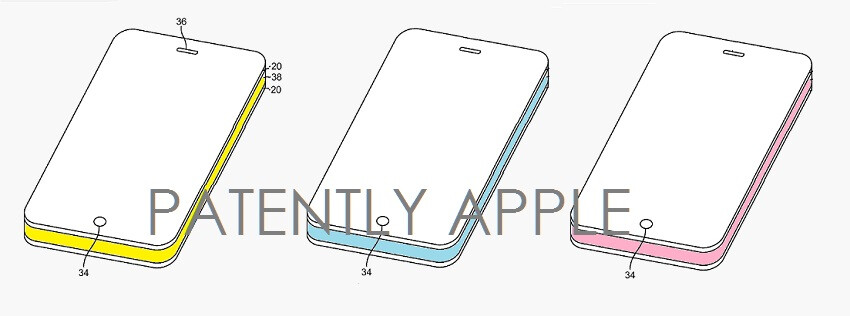This glass sandwich iPhone patent has the side glass band illuminated