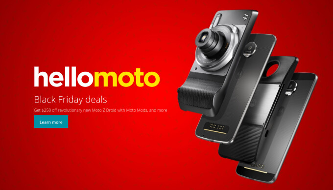 Motorola Black Friday 2016 deal: get any Moto Z-series phone with a Moto Mod at $250 off