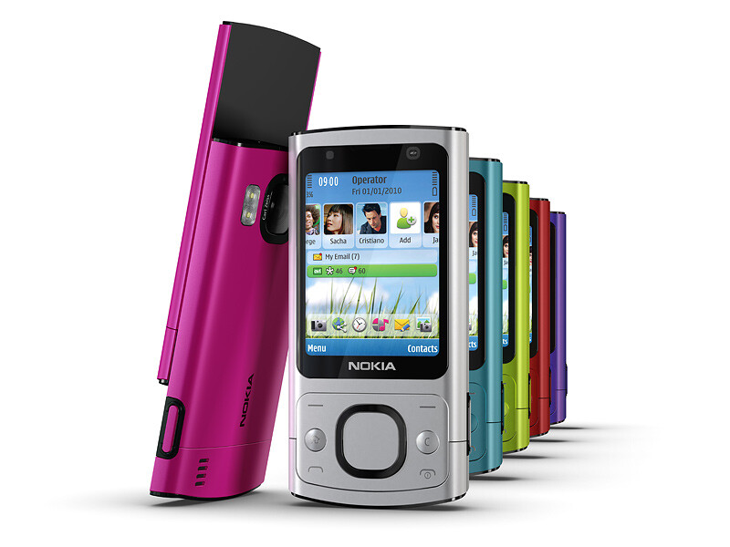 The Nokia 6700 slider will become available in various colors - Nokia announces the 6700 slide and 7230