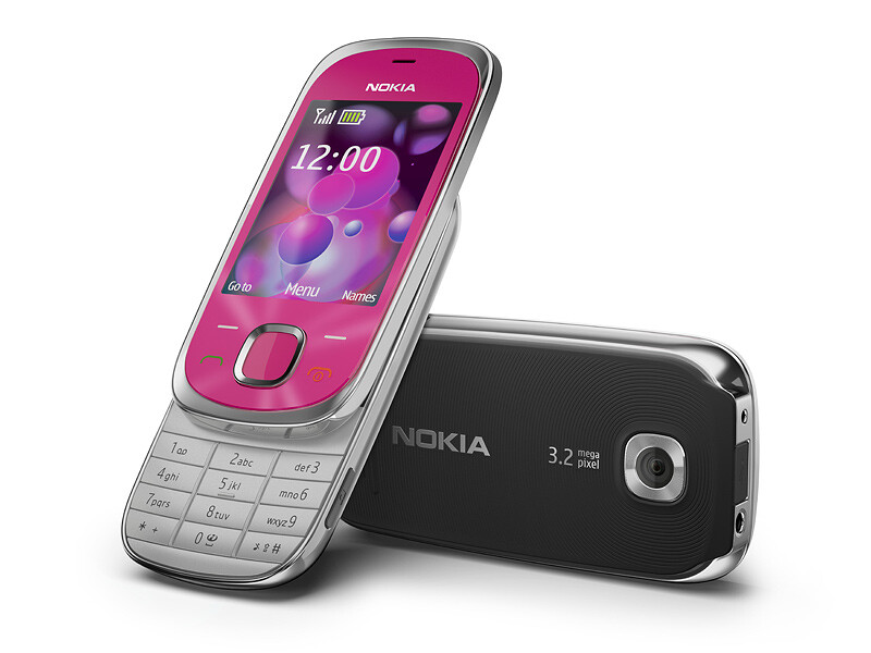 The Nokia 7230 is a feature phone equipped with GPS - Nokia announces the 6700 slide and 7230