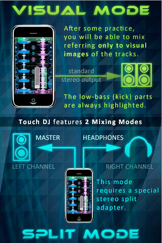 Touch DJ - Touch DJ for the iPhone allows users to show off DJ skills