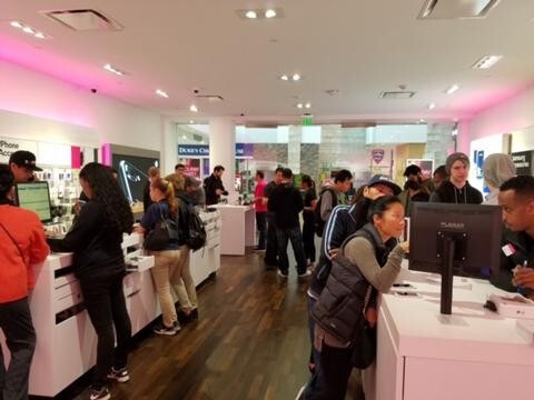 The Magenta Friday promotion brought big crowds to the carrier's physical stores - T-Mobile's Magenta Friday promotion extended to Tuesday, November 22nd