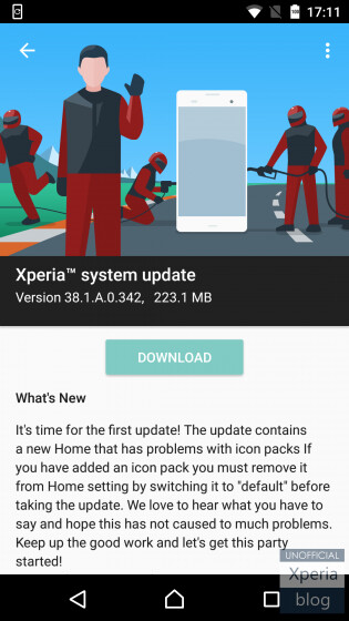 Sony rolls out first Android 7.0 concept update for Xperia X, adds November security patch