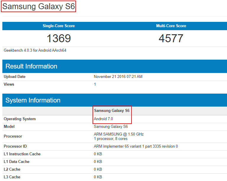 Galaxy S6 with Android 7.0 Nougat update build pops up on ...