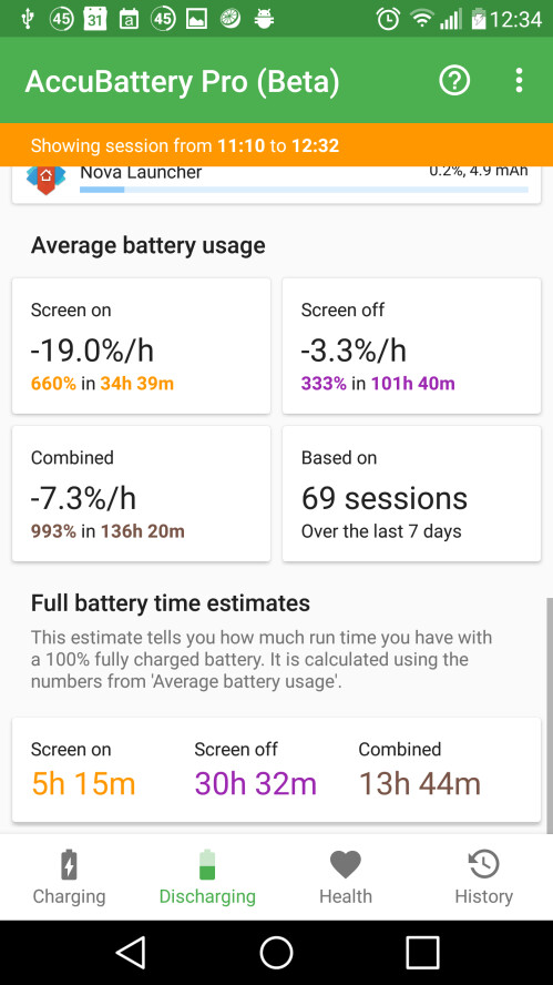 Accu Battery ist eine Batterie-Lebensdauer-Monitor auf Steroiden, hilft Ihnen, längeres Leben aus der Batterie