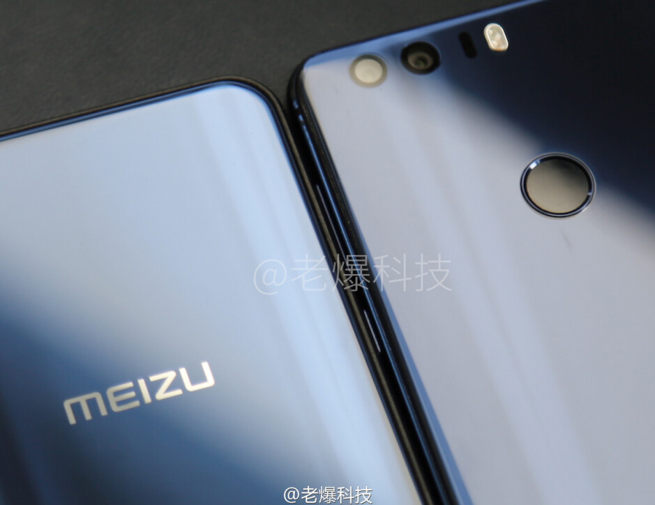 Leaked photo of an unnamed Meizu device, possibly the Meizu X - Image of the Meizu X leaks revealing rear facing fingerprint scanner on board?
