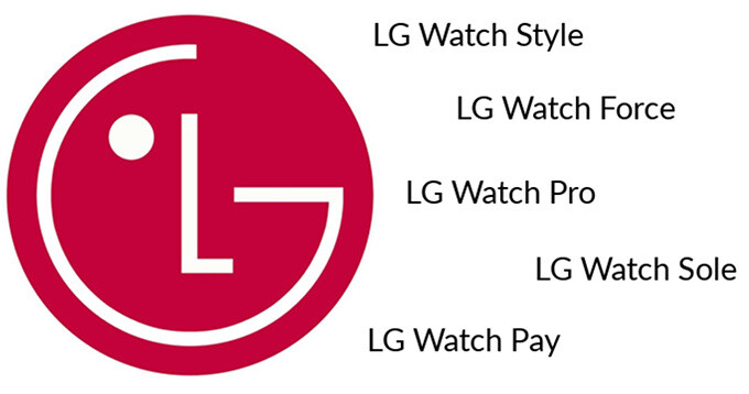 """LG wants to trademark four new smartwatches as well as """"LG Watch Pay"""""""