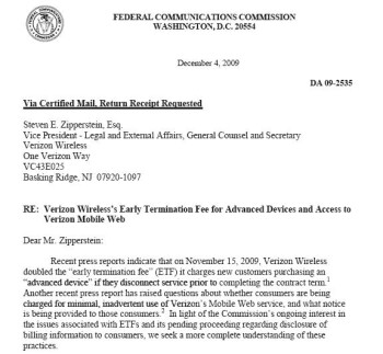 Verizon on FCC hot seat about raising ETF?