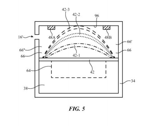 Illustrational graphics from Apple's patent application - Sensors in future Apple devices could warn users of environmental hazards