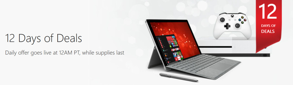 Microsoft is offering a deal a day with its 12 Days of Deals promotion - Check out the 12 Days of Deals from the Microsoft Store