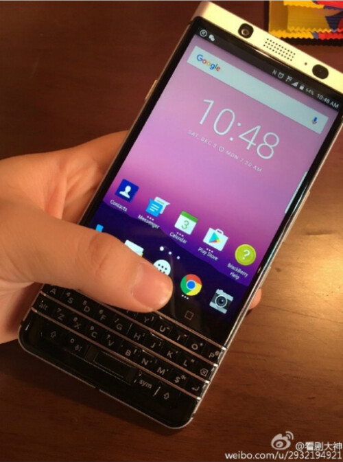 Images found on weibo allegedly show off BlackBerry's next Android phone featuring a QWERTY keyboard