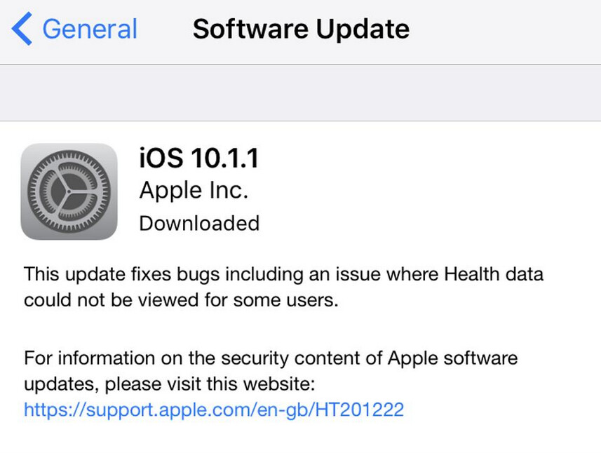 Latest issue to hit Apple