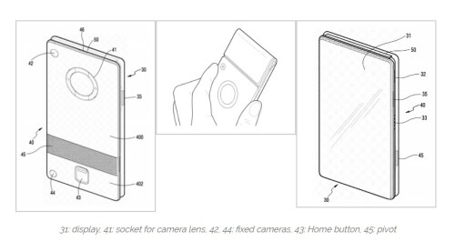 Samsung foldable device patent