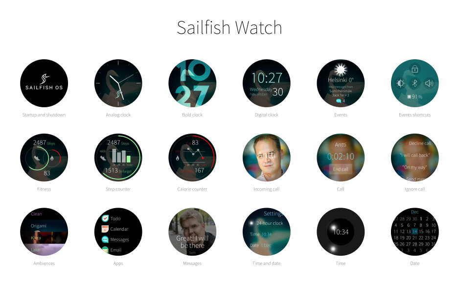 Jolla shows off their vision for Sailfish OS on a smartwatch