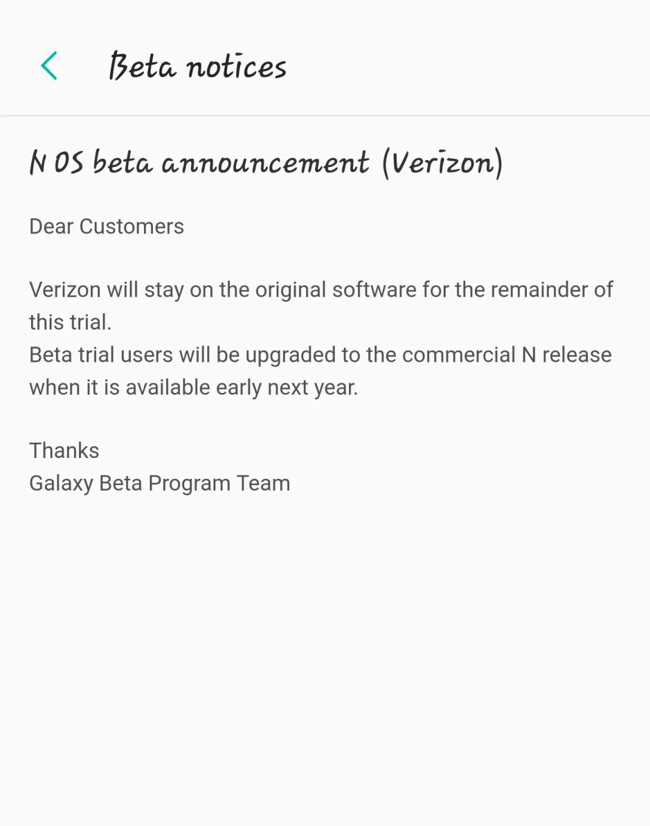 Verizon confirms Samsung Galaxy S7/S7 edge won't get Android Nougat until early 2017