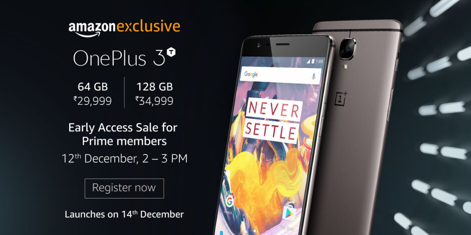 Amazon Prime subscribers in India will be able to purchase the OnePlus 3T before everyone else