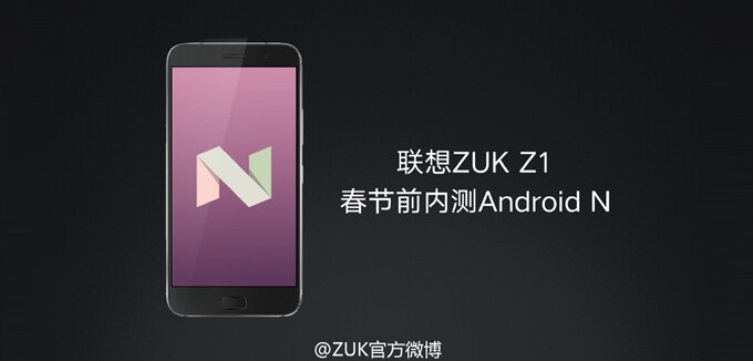 The ZUK Z1 and Z2 Pro will soon see Android Nougat - Android 7.0 Nougat confirmed for the ZUK Z1 and ZUK Z2 Pro