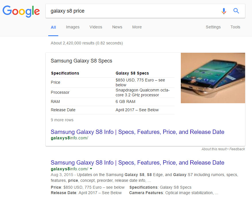 Google can't tell real from fake tech news, promotes fake Galaxy S8 and iPhone 8 news to top results