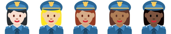 These female officers cost us five Twitter characters each. - Dummy guide to Emoji: History, Nature and Usage