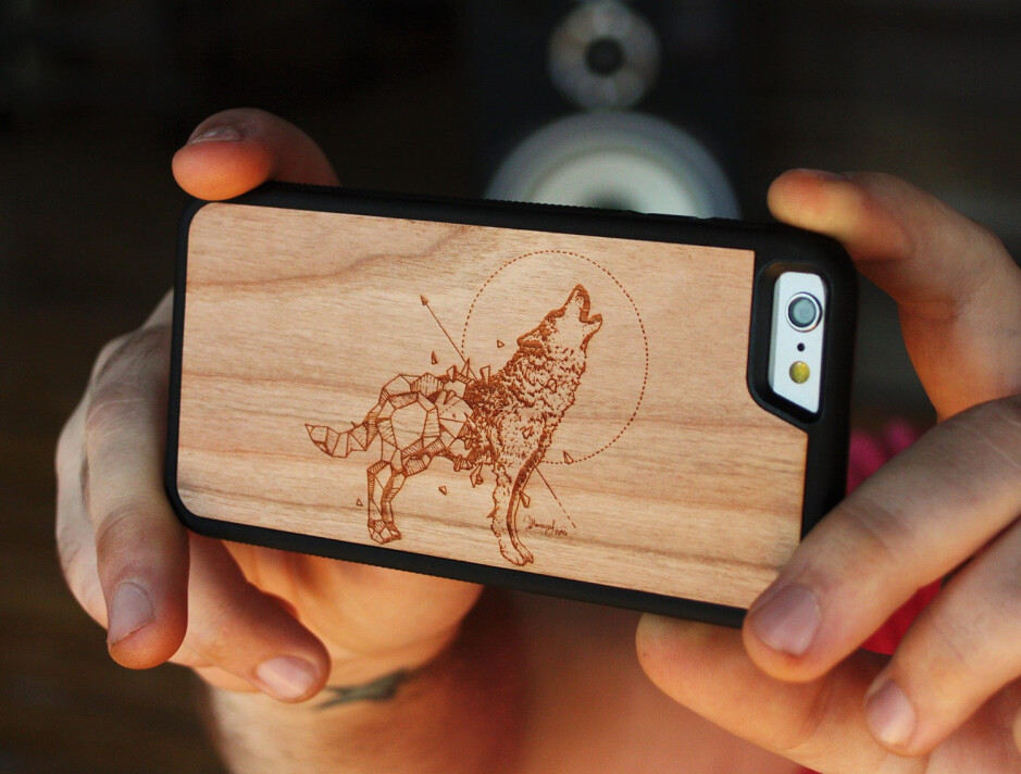 Carved Geometric Wolf by Kerby Rosanes - $39 - Late shoppers' gift guide: Smartphone cases