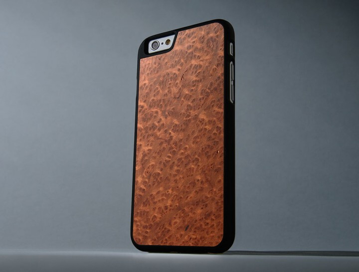 From left to right - Redwood Burl, Padauk, Corporal Inlay - Late shoppers' gift guide: Smartphone cases
