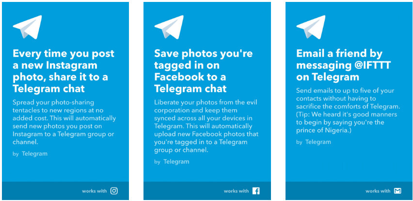 Telegram update adds ability to pin chats, improves photo editor