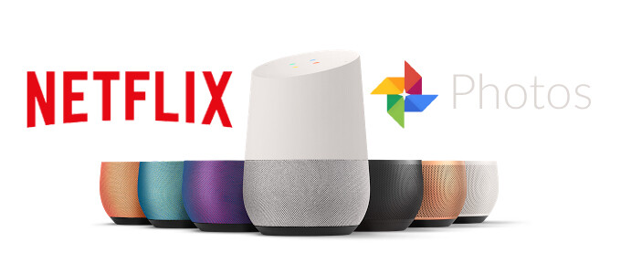 Netflix, Google Photos begin staged roll-out to Google Home