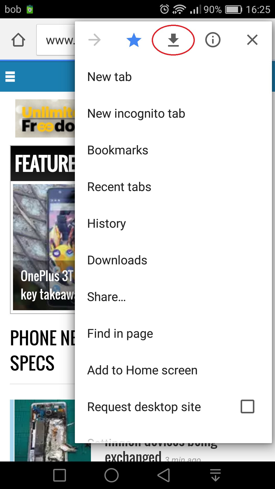 Chrome for Android: How to save websites, video and audio