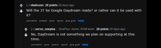 Aaron from OnePlus confirms the OnePlus 3T won't support Daydream - OnePlus 3T Q&A: Your questions answered!