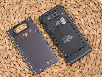 Both the G5 and V20 (pictured above) sported removable batteries but neither of them was water-resistant