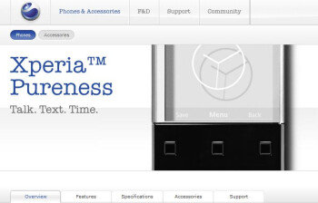 Sony Ericsson Xperia Pureness now available online for $990