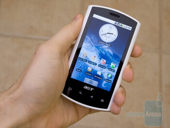 The overall dimensions of the Acer Liquid A1 are similar to those of the iPhone