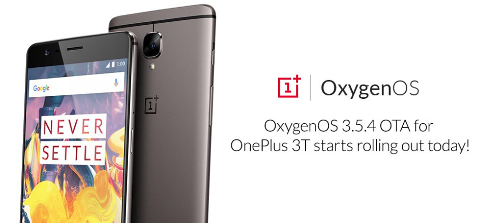 OxygenOS 3.5.4 update for OnePlus 3T rolling out starting today