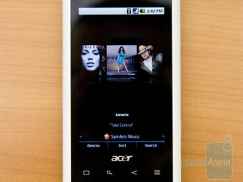 Some of the personalization elements and extra software of the Acer Liquid A1