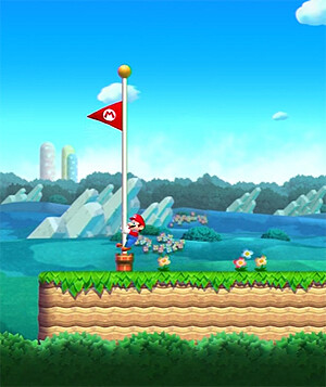 The flagpole has become a staple of the Super Mario franchise and it returns for the plumber's first foray into mobile gaming. You will see it at the end of each level, just like in the good ol' days