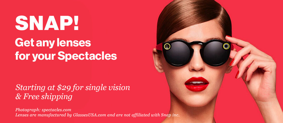 More prescription lenses are available for Spectacles, but these ones cost just $29