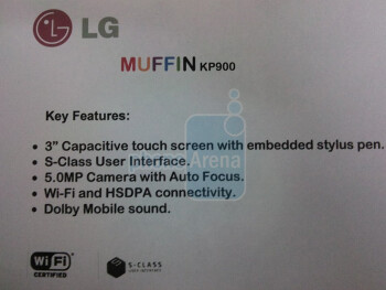 The LG Muffin KP900