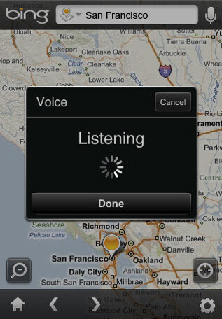 Microsoft has released Bing for the iPhone at App Store