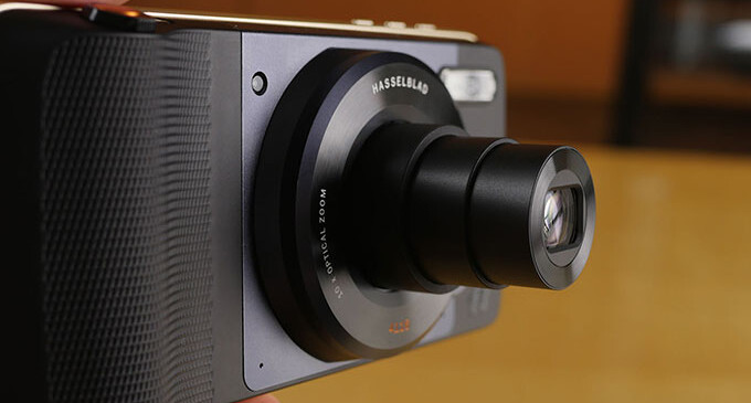 The Hasselblad True Zoom camera is one of several Moto Mods currently available - A future Moto Mod could revive the 3.5mm jack.. or save your life