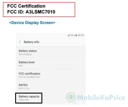 The Galaxy C7 Pro will use an E-label which means a non-removable battery - Samsung Galaxy C7 Pro visits the FCC, comes away certified