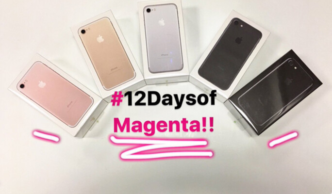 Win one of two iPhone 7 units being given away today by T-Mobile - For the last 12 Days of Magenta contest, win the iPhone 7 from T-Mobile
