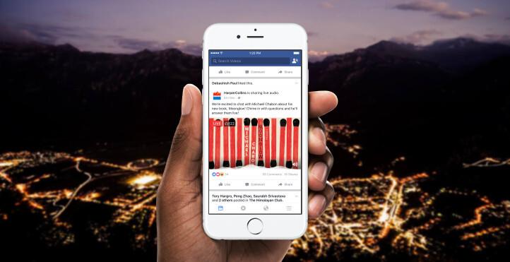 Facebook announces Live Audio in partnership with BBC, Harper Collins, more