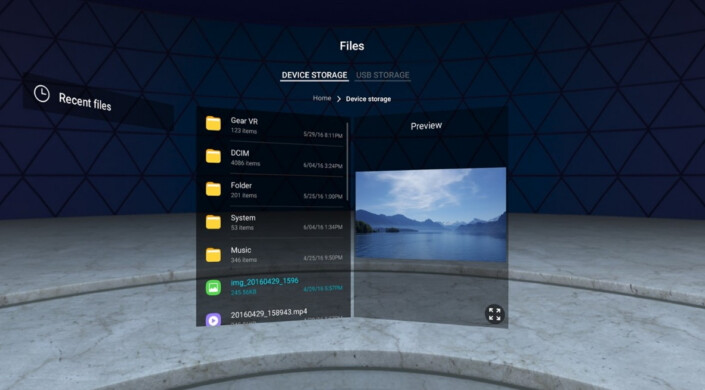 Samsung Internet for Gear VR - Samsung Internet for Gear VR updated with custom backgrounds