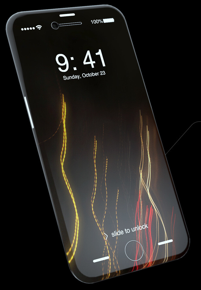 Such an OLED iPhone 8 won't be easy to produce in mass quantities (fan-made concept) - Bloomberg: OLED-making machines can't be churned out fast enough to meet all demand for a curved iPhone 8