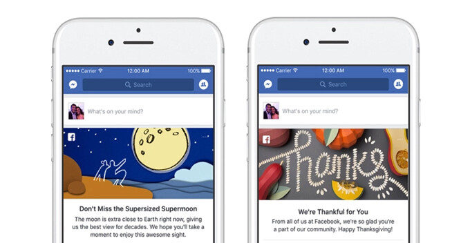 "Facebook launches Google Doodles-like feature that will pin ""moments"" at the top of your feed"