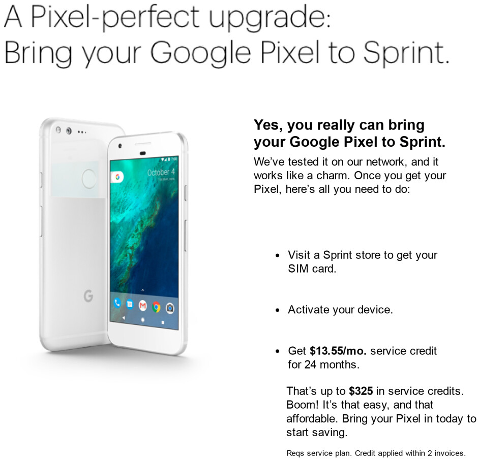 Got a new Pixel? Activate it on Sprint and get up to $325 of your cash back. Well, sort of