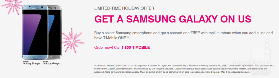 T-Mobile has alst-minute BOGO on various Samsung handsets - T-Mobile has last minute BOGO deal on models including the Samsung Galaxy S7 and Galaxy S7 edge